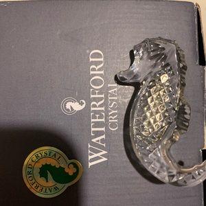 Waterford crystal seahorse pin